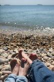 Deux paires de pieds Photographie stock libre de droits