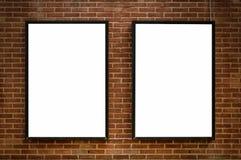 Deux panneaux en blanc 02 Images libres de droits
