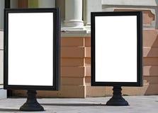 Deux panneaux-réclame vides Photographie stock libre de droits