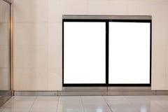 Deux panneaux-réclame vides Images libres de droits