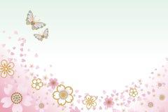 Deux papillons et cerises blossoms-EPS10 Image libre de droits