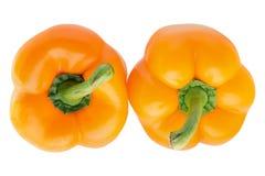 Deux paprikas Photo libre de droits