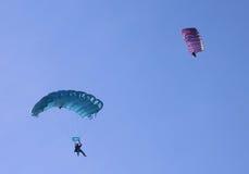 Deux parachutes Photo libre de droits