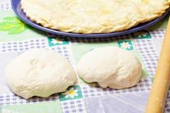 Deux parties de pâte et de secteur Image libre de droits