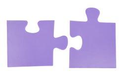 Deux parties de puzzle Images libres de droits