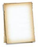 Deux parties de vieux papier Photographie stock