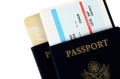 Deux passeports photos stock