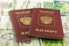 Deux passeports Image stock