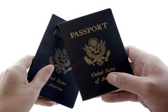 Deux passeports photographie stock