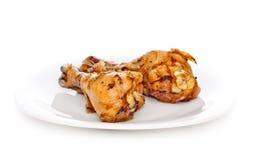 Deux pattes de poulet frit Photos libres de droits