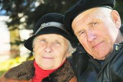 Deux personnes âgées Image libre de droits