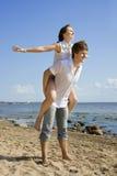 Deux personnes heureuses dans l'amour Image libre de droits