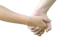 Deux personnes (homme et femme) tenant des mains Photographie stock libre de droits