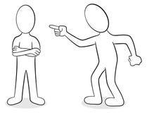 Deux personnes sont d'opinion différente illustration libre de droits