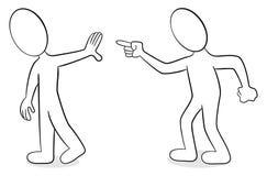 Deux personnes sont d'opinion différente illustration de vecteur