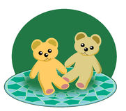 Deux petit Teddy Bears Illustration Libre de Droits