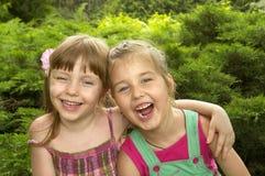 Deux petites filles photo libre de droits