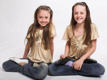 Deux petites filles Photos libres de droits