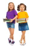 Deux filles intelligentes heureuses Images libres de droits