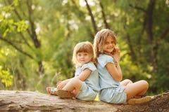 Deux petites soeurs Photographie stock