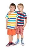 Deux petits amis gais Photos stock