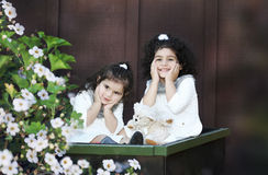 Deux petits anges Photographie stock libre de droits
