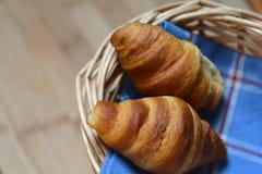 Deux petits croissants Photographie stock libre de droits