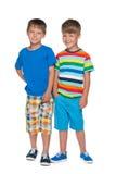 Deux petits garçons Photos stock