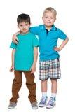Deux petits garçons beaux Photographie stock