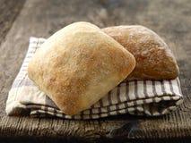 Deux petits pains de pain de ciabatta Images libres de droits