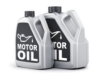 Deux peuvent circuler en voiture l'huile sur le fond blanc illustration de vecteur