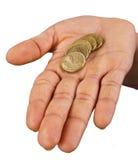 Deux pièces de monnaie du dollar Image libre de droits