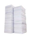 Deux piles de papier photographie stock libre de droits