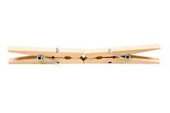 Deux pinces à linge en bois Photo libre de droits