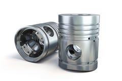 Deux pistons d'isolement Image stock