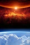 Deux planètes Image libre de droits