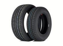 Deux pneus d'été Photographie stock libre de droits