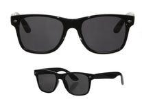 Deux points de vue des lunettes de soleil classiques images stock