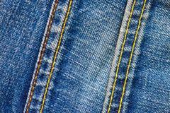 Deux points sur des jeans Photos stock