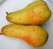 Deux poires pour la santé un couple Images stock