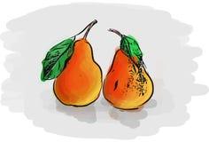 Deux poires rouges Photo stock