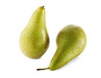 Deux poires vertes Photographie stock libre de droits