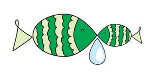 Deux poissons avec le waterdrop Photos stock