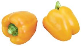 Deux poivrons, deux cayennes Photo libre de droits
