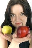 Deux pommes Photo libre de droits