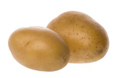 Deux pommes de terre blanches de traitement au four Photographie stock libre de droits
