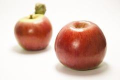 Deux pommes Delicious Image libre de droits