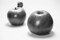 Deux pommes Delicious Images libres de droits