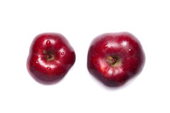 Deux pommes red delicious Photo stock