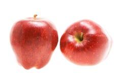 Deux pommes rouges Photo stock